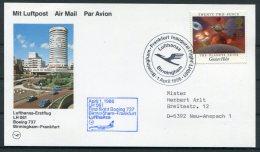 1986 GB Germany Lufthansa First Flight Card. Birmingham - Frankfurt. - Covers & Documents