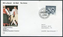 1986 Sweden Germany Lufthansa First Flight Card. Goteborg - Frankfurt.