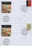 BELGIQUE 3237 à 3240 FDC X 4 Enveoppes 1er Jour - Tintin Kuifje HERGE Lune Fusée Rocket Maan Moon - Comics