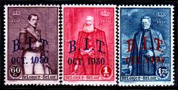 Belgio-180 - 1930: Yvert & Tellier N. 305-307 (++) MNH - Senza Difetti Occulti. - Belgique