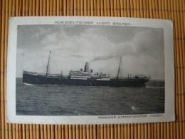 NDL Bremen, Norddeutscher Lloyd Bremen, Passagier- & Frachtdampfer Cassel, Gelaufen 1932 - Steamers