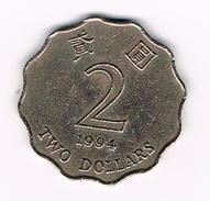 ) HONG KONG  2 DOLLARS  1994 - Hong Kong