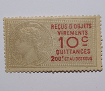 Timbre Fiscal France - 10 Centimes - Revenue Stamps