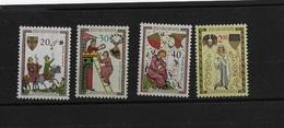 Liechtenstein N° 373 à 376** - Ungebraucht