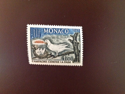 Monaco 1963 Freedom From Hunger Bird MNH - Vogels