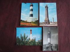 Lot De 4 CP De Phares ECKMÜHL COUBRE CHASSIRON - Lighthouses