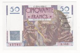 BILLET  50 FRANCS LE VERRIER Du 29-6-1950 * S153 45781 * 1 épinglage, Pli Vertical Non Marqué - 1871-1952 Circulated During XXth