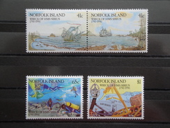 1990 Norfolk Yvert 469/72 ** Bateaux Ships  Scott 471/4 Michel 476/9 SG 479/82 Wreck Of Sirius - Ile Norfolk