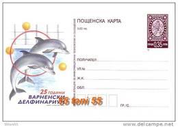 2009  Dolphins   Postal Card (mint)  Bulgaria / Bulgarie - Marine Life