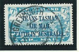 New Zealand Air   Stamp 1934 Sg554 Vfu Trans - Tasman - 1907-1947 Dominion