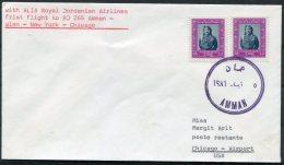 Jordan USA First Flight Cover. Amman - Chicago - Jordan