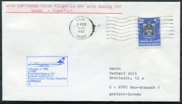 1982 UAE Germany First Flight Cover. Dubai - Frankfurt - Dubai