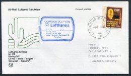 1982 Peru Germany Lufthansa First Flight Cover. Lima - Frankfurt - Peru