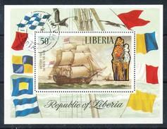 Liberia    - Mi.Nr.  851 Block 62  Gestempelt         Segelschiffe - Liberia