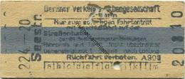 Deutschland - Berlin - Berliner Verkehrs-Aktiengesellschaft - U-Bahn - Fahrkarte Mit Anschluss Auf Der Strassenbahn - Se - Europe
