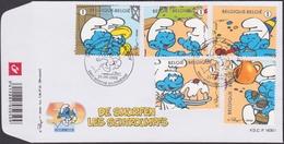 3809/3812 / Bl 159 - De Smurfen / Des Schtroumpfs - O - FDC