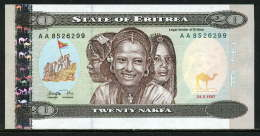 280-Erythrée Billt De 20 Nafka 1997 AA852 Neuf - Eritrea