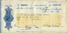 21278 Ethiopia, Vecchia Cambiale 1937 Banca Italia/filiale Addis Abeba, Bill Of Exchange 1937 Ethiopia - Bills Of Exchange
