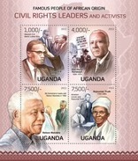 UGANDA 2013 SHEET LEADERS AND ACTIVISTS NELSON MANDELA NOBEL PRIZE PRIX NOBEL LIDERES Y ACTIVISTAS Ugn13106a - Uganda (1962-...)