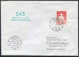 1969 Denmark Germany SAS First Flight Cover. Ronne - Copenhagen Frankfurt - Airmail