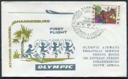 1968 Greece / South Africa. Olympic First Flight Cover Athens - Johannesburg - Airmail