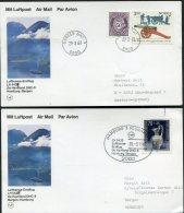 1987 Norway Germany Lufthansa First Flight Cards (2) Bergen / Hamburg - Poste Aérienne