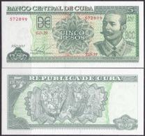 2015-BK-16 CUBA 2015. 5$ ANTONIO MACEO. UNC. - Cuba