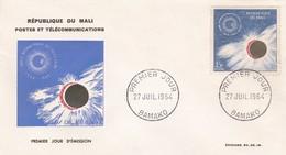 MALI---BAMAKO---27 Juil. 1964--premier Jour--année Internationale Du Soleil Calme-enveloppe-voir 2 Scans - Mali (1959-...)