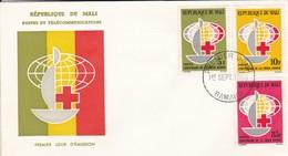 MALI---BAMAKO---1er Sept. 1963--premier Jour--centenaire De La Croix Rouge-enveloppe-voir 2 Scans - Mali (1959-...)