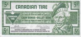 Canada Canadian Tire  - 5 CENTS Cash Bonus - Billet - Boni - 0508233393 (2 Scans) - Kanada