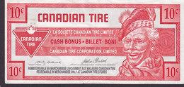 Canada Canadian Tire  - 10 CENTS Cash Bonus - Billet - Boni - 0063838559 (2 Scans) - Canada