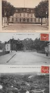 LE CREUSOT → Trois Belle Cart, Direction Et Usines Schneider, Hôtel Des Postes 1913 - Le Creusot