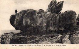 CARTE PENMARCH SAINT GUENOLE - ROCHER DE LA TETE DE LAPIN - Penmarch