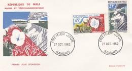 MALI---BAMAKO---27 Oct. 1962---premier Jour---office Du Niger--enveloppe-voir 2 Scans - Mali (1959-...)