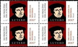 BRAZIL 2017  -  Martin Luther  -  500 Jahre Lutherische Reformation   (Gemeinschaftsmarke Mit Brasilien) - Blk O - Brasilien