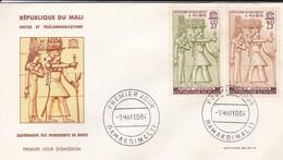 MALI---BAMAKO---9 Mars 1964---premier Jour--sauvegarde Des Monuments De Nubie---enveloppe-voir 2 Scans - Mali (1959-...)