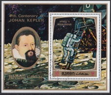 Bf. 297A Ajman 1971 Johan Kepler Apollo 11 Moonlanding Keplero Nuovo Preoblit. - Astronomùia