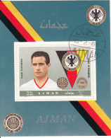 Bf. 367A Ajman 1969 Calcio Soccer Hans Tilkowski Portiere Borussia D.  D.F.B.  Nuovo Preoblit. - Ajman
