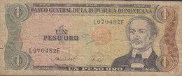 Dominicana  - 1 PESO ORO (1988) Duarte L 970482 F (2 Scans) - Dominikanische Rep.