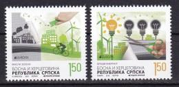Bosnia Serbia 2016 Europa CEPT, Think GREEN, Environment, Bicycle, Set MNH - Europa-CEPT
