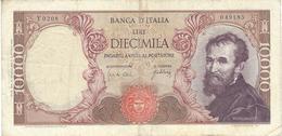 ITALIA 10000 LIRE 1962 P-97a B/MB CON UN PICCOLO STRAPPO [IT097a] - [ 2] 1946-… : Republiek
