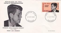 MALI---BAMAKO---26 Oct. 1964--premier Jour--président JOHN FITZGERALD KENNEDY----enveloppe-voir 2 Scans - Mali (1959-...)