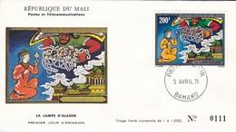 MALI---BAMAKO---5 Avril 71--premier Jour--la Lampe D'aladin---enveloppe-voir 2 Scans - Mali (1959-...)