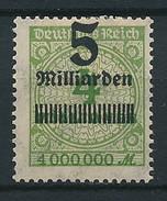 D. Reich Nr. 333 A * Stark Verschobener Aufdruck
