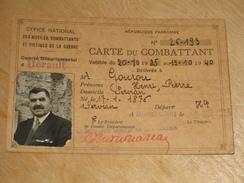 Carte Du Combattant (1935) - Documentos Históricos