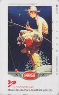 Rare Télécarte Japon / 390-09720 - COCA COLA - POSTER - Garçon Pêche - Fishing Boy Drink Japan Phonecard - 4028 - Japan