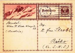 Österreich Austria Autriche Ganzsache Stationery  Grosglockner, Karnten 1928