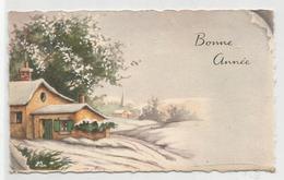 Mignonnette. Bonne Année. Village Enneigé. - Nouvel An