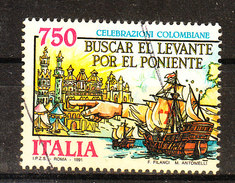 Italia   -   1991.  Caravelle. Celebrazioni Colombiane. Caravelle. Colombian Celebrations - Ships