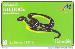 Laos  Phonecard     Zodiak Horoskop Schlange Snake